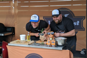 Wing Fest & Frontier Lager: Beer Butt Chicken BBQ Recipe with DJ BBQ & Food Review Club